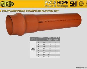Distributor Pipa PVC SNI pipa air limbah